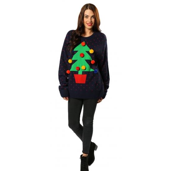 Grote Maten Foute Kersttrui.Nu Zeer Voordelig Foute Kersttrui Kerstboom Bestellen Oranje